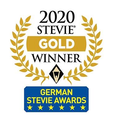 EXPLANIDEO und R+V BKK gewinnen Gold-Stevie-Award